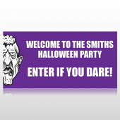 Welcome To The Halloween Party Banner