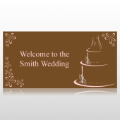 Pink & Brown Welcome To The Wedding Banner