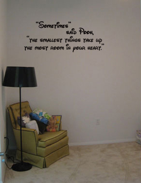 A Disney themed quote from Winnie The Pooh
