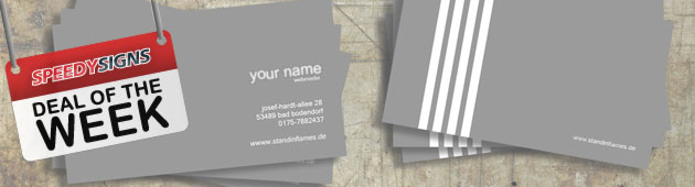 Deal Of The Week - 75% OFF Custom Business Cards