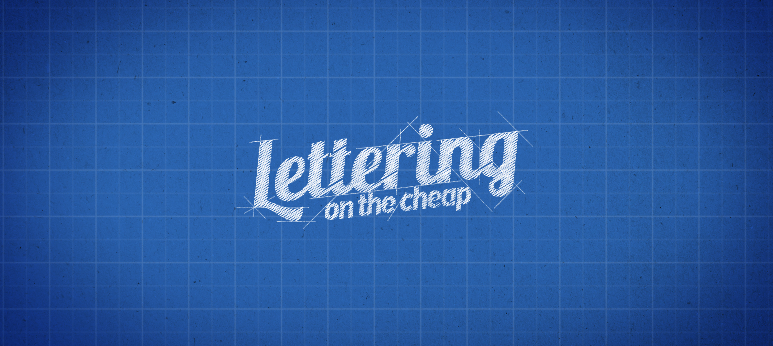 lettering on the cheap logo
