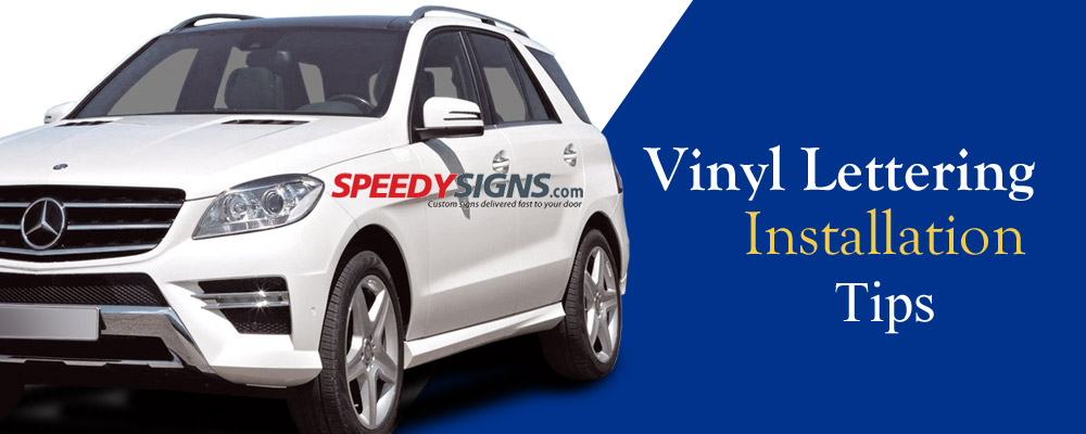 Vinyl Lettering Installation Tips