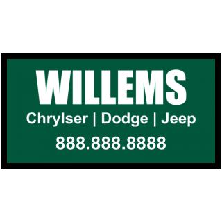 Willems Chrysler Magnetic Sign - Magnetic Sign