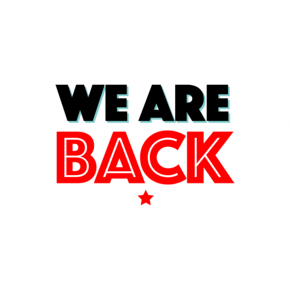 We Are Back Banner