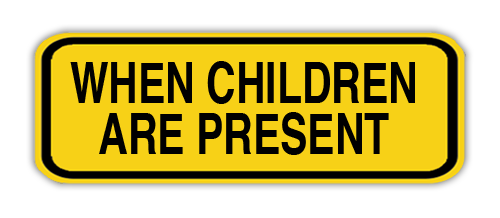 """Road Sign Poly 10""""H x 24""""W"""