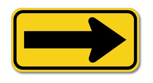 "Road Sign Rigid 12""H x 24""W"