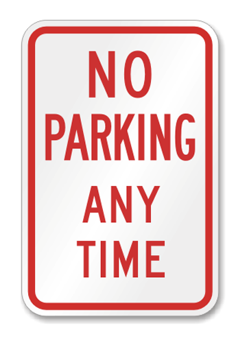 """Road Sign Poly 12""""W x 18""""H"""