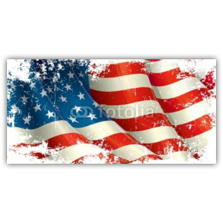 July 4th Grungy American Flag