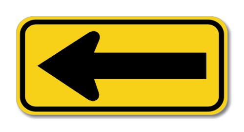 "Road Sign Rigid 18""H x 36""W"