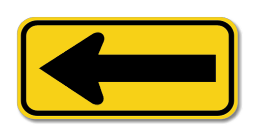 "Road Sign PVC 18""H x 36""W"