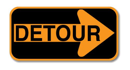 """Road Sign .040 Aluminum 18""""H x 48""""W"""
