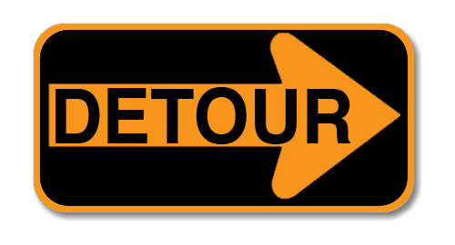 "Road Sign PVC 18""H x 48""W"