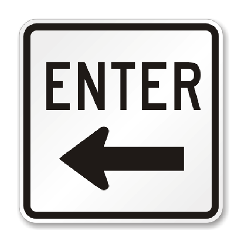 "Road Sign Rigid 18""H x 18""W"