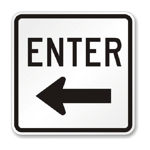 "Road Sign PVC 18""H x 18""W"