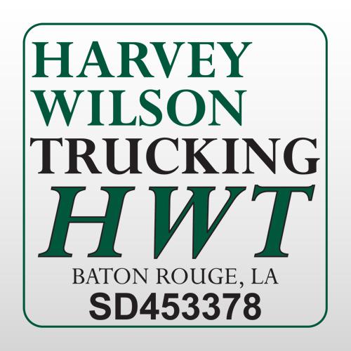 Harvey 330 Truck Lettering