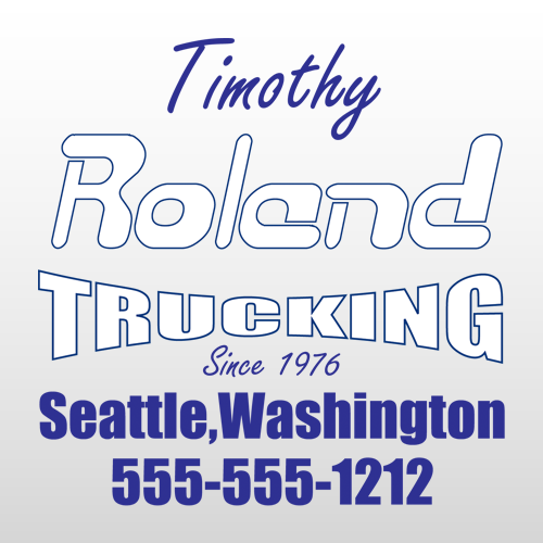 Roland 300 Truck Lettering