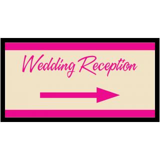 Wedding Reception Directional Arrow Banner