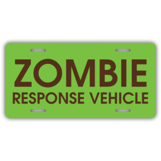 Zombie Response Vehicle License Plate