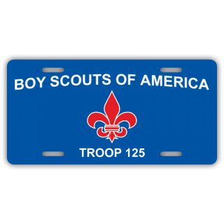Boy Scouts of America - Troop 125 License Plate
