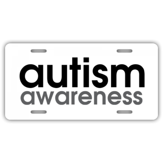 Autism Awareness License Plate