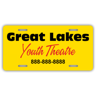 Great Lakes Your Theatre License Plate