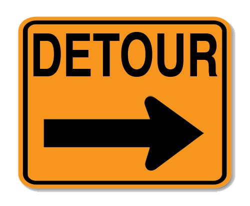 "Road Sign PVC 24""H x 30""W"