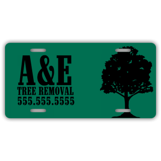Tree Removal Company License Plate