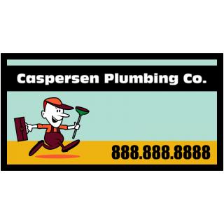 Caspersen Plumbing Service Magnetic Sign - Magnetic Sign