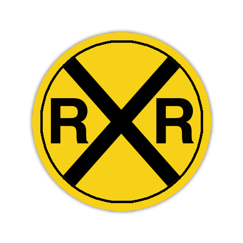 "Road Sign .040 Aluminum Circle 30""H x 30""W"