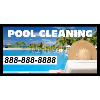 Pool Cleaning Vinyl Banner