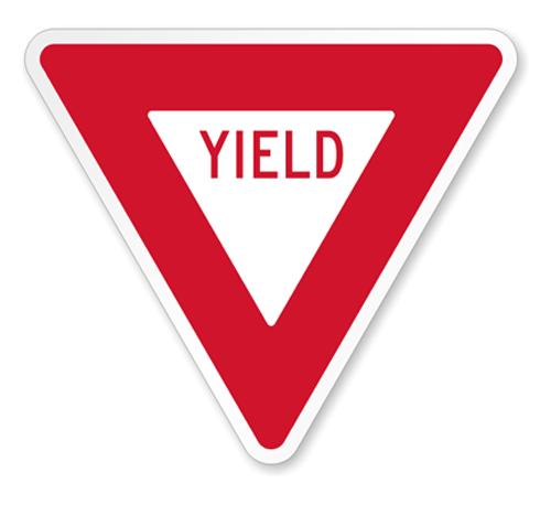 "Road Sign Corrugated Plastic Triangle 30""H x 30""W"