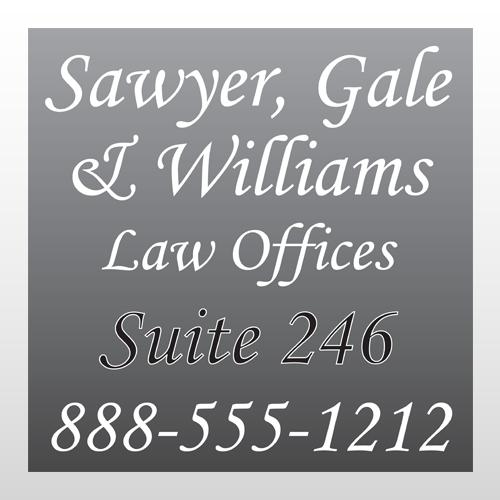 Law 293 Window Lettering
