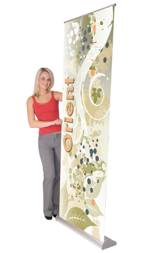"""Kit- ONT800 Retractable Banner Stand & Heavy Weight Banner 31.5""""W x 84""""H"""