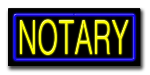 """NOTARY 13""""H x 32""""W Neon Sign"""