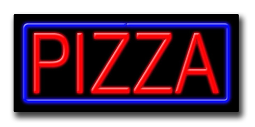 """PIZZA 13""""H x 32""""W Neon Sign"""