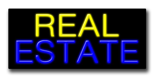 "REAL ESTATE 13""H x 32""W Neon Sign"