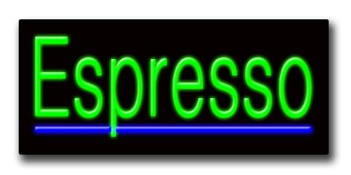 """ESPRESSO 13""""H x 32""""W Neon Sign"""
