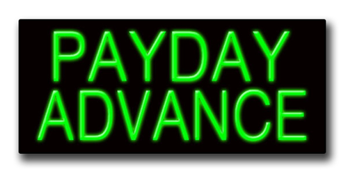 """PAYDAY ADVANCE 13""""H x 32""""W Neon Sign"""