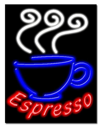 """ESPRESSO 24""""W x 31""""H Neon Sign"""