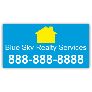 Blue Sky Realty Services Vinyl Banner