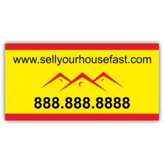Sell Your House Fast Vinyl Banner