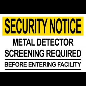 Metal Detector Notice
