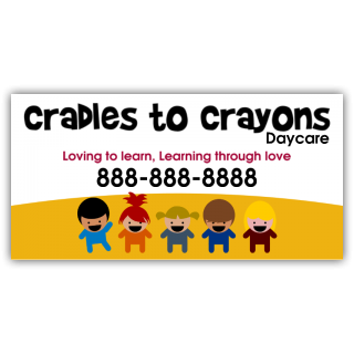Cradles to Crayons Daycare Magnetic Sign - Magnetic Sign