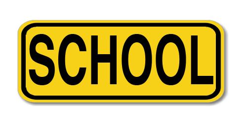 "Road Sign PVC 8""H x 24""W"