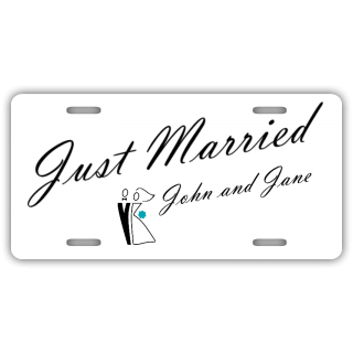 Just Married 2 License Plate