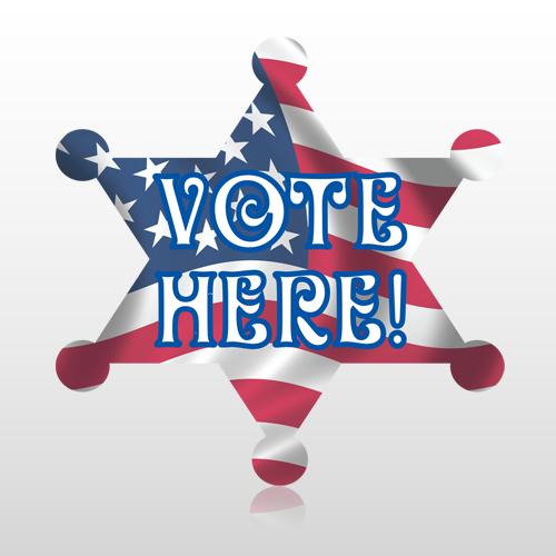 Vote 745 Floor Decal Badge