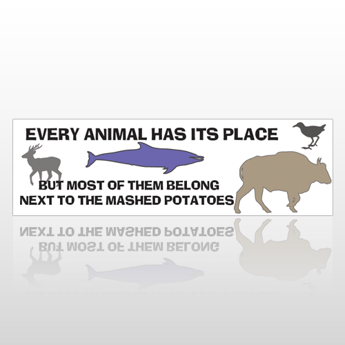 Animal Dish 242 Bumper Sticker