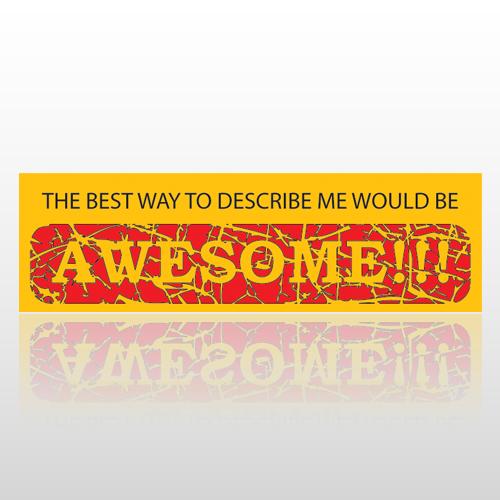 Awesome 78 Bumper Sticker