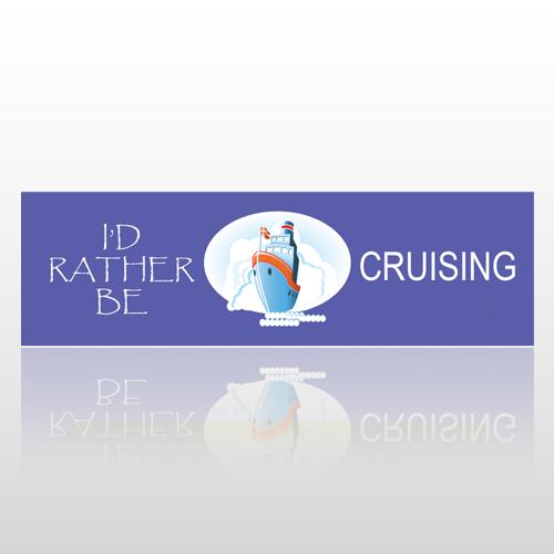 Be Cruising 21 Bumper Sticker