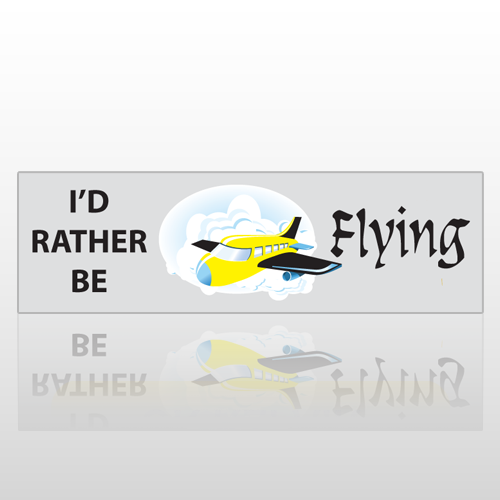 Be Flying 19 Bumper Sticker